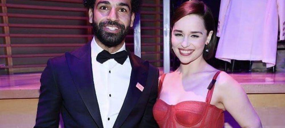 """""""Mama dragonilor si tatal cormoranilor"""" :)) Salah, alaturi de vedete de la Hollywood la Gala Time 100! Pe cine a transformat in fan Liverpool"""
