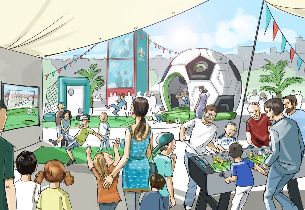 Asa vor arata fan-zone-urile la Euro 2020. UEFA obliga primariile sa respecte conditiile sau sa plateasca taxa de transmitere a meciurilor