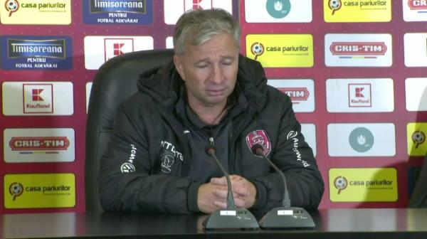 "Petrescu a rabufnit la conferinta: ""100% Steaua favorita la titlu! Pierdem cu Viitorul si s-a terminat!"""
