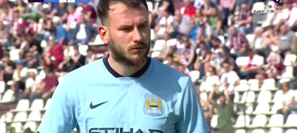 Eterna si fascinanta Romaniei! GE-NI-AL! Rapid a jucat astazi contra lui Manchester City :)) Portarul de la Agricola Borcea a evoluat in tricoul liderului din Premier League