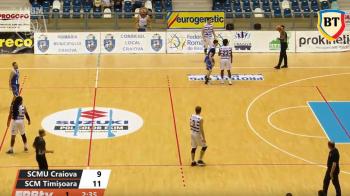 ACUM LIVE SCMU Craiova - SCM Timisoara, in meciul 2 din Play Off-ul Ligii Nationale de Baschet! Urmareste partida VIDEO