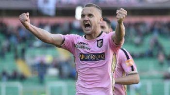 PASA DE GOL CU CALCAIUL data de Puscas! Romanul a contribuit la reusita care a salvat un punct pentru Palermo si o tine in cursa pentru promovare: VIDEO