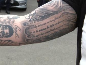 """Dinamovistul care si i-a tatuat pe Hildan si Ekeng pe brat: """"Dinamo e un stil de viata, ce traiesc pe stadion nu traiesc nicaieri pe lumea asta!"""""""