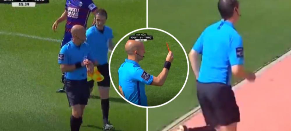 Moment unic in prima liga din Portugalia! Arbitrul a oprit meciul aproape 5 minute pentru ca nu se mai putea tine :)) VIDEO