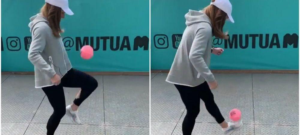 SIMONA HALEP MADRID | Lectie de fotbal predata de fostul lider mondial! Simona i-a uimit pe toti cu jongleriile ei | VIDEO