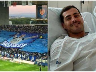 Fanii lui Porto, coregrafie impresionanta pentru Iker Casillas! Ce mesaj au avut colegii portarului! Fotografii impresionante!