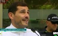 "Casillas, cu lacrimi in ochi: ""Mi-e asa de greu sa vorbesc!"" Astazi a fost externat din spital, la 6 zile de la infarct"