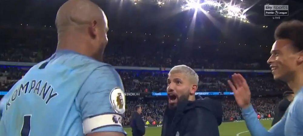 "Faza GENIALA cu Aguero si Kompany! ""Don`t shoot! No Vinny, no!"" Ce s-a intamplat imediat dupa victoria lui Manchester City!"