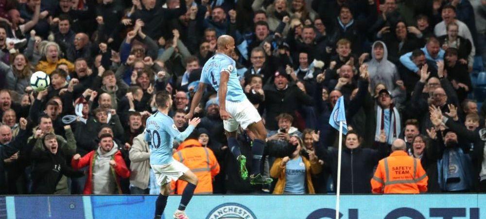 Cand nevoia te cheama, nu te poti opune! :) Ce au facut fanii lui Manchester City la golul FABULOS al lui Kompany   VIDEO