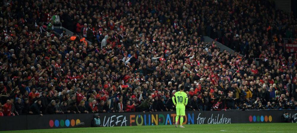 Messi A DISPARUT din nou! Statistica NEAGRA pentru argentinian pe Anfield:
