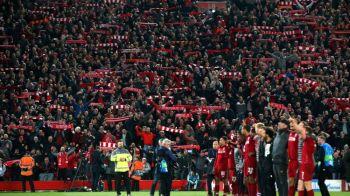 Imaginile ISTORICE de pe Anfield! Fanii lui Liverpool au cantat alaturi de jucatorii lui Jurgen Klopp! VIDEO