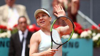 """Modul inedit in care WTA a anuntat primul set la 0 castigat de Halep la Madrid: """"I-a fost pofta!"""" :) Simona a uluit pe toata lumea"""