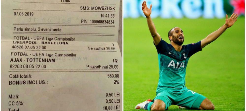 Asta da pariu! A pus CORECT pe calificarea lui Liverpool si revenirea MIRACULOASA a lui Tottenham! Cat a castigat