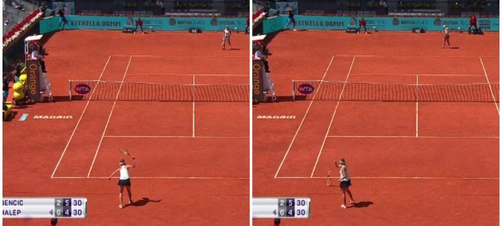 Belinda Bencic, RABUFNIRE incredibila in meciul cu Simona Halep! A dat cu racheta de pamant dupa ce a ratat un punct vital!