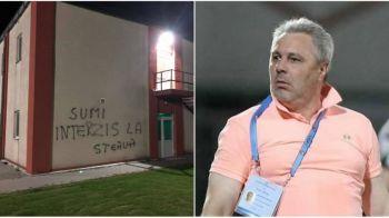 Imaginile care spun totul! Fanii nu il vor pe Sumudica la FCSB! INCREDIBIL ce au scris pe cladirile din baza de la Berceni!