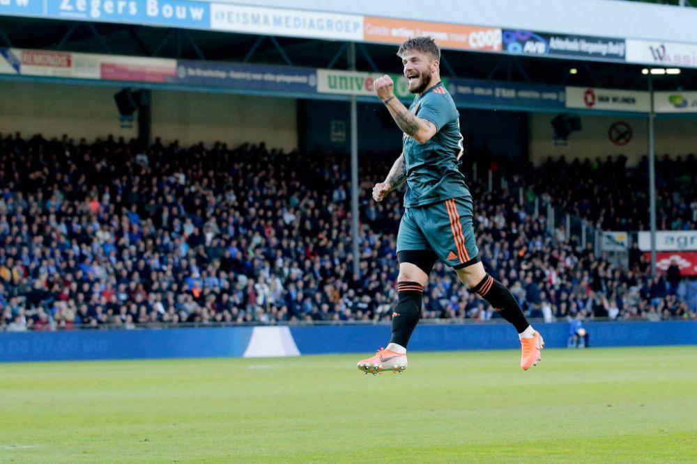 Ajax este pentru a 34-a oara campioana Olandei! De Jong si De Ligt si-au luat ramas bun de la fani, Schone a marcat un gol FABULOS! VIDEO