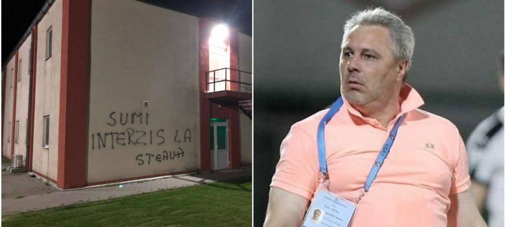 Decizia luata de FCSB dupa mesajele anti-Sumudica scrise pe peretii bazei din Berceni! Fanii isi cer scuze si promit sa curete zidurile