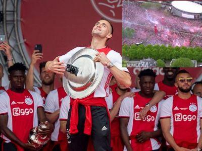 """""""Tadic's on fire!"""" Momente FABULOASE la Amsterdam dupa ce Ajax a castigat titlul 34! Discursul senzational al lui De Ligt in fata a zeci de mii de oameni"""