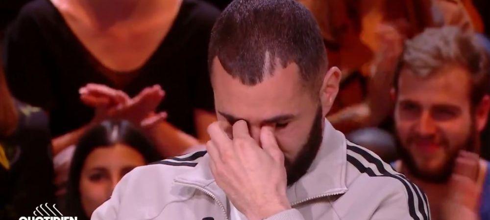 """Benzema, asa cum nu l-ai vazut niciodata! A inceput sa planga in direct: """"N-am cuvinte ce inseamna pentru mine"""""""