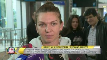 """Simona Halep a revenit in Romania dupa ce a fost nevoita sa astepte 5 ore in aeroport! Romanca, deranjata de o intrebare: """"Din partea cui sunt asteptarile mari?"""""""