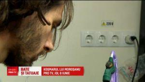 Suflet de artist! Karatistul Vlad vrea sa isi tatueze centura neagra... dupa ce o castiga :)