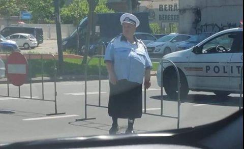 Cum o apara politistii pe doamna Geta dupa ce ras internetul de ea
