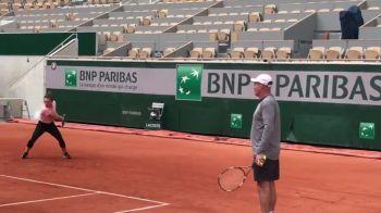 """Simona Halep, primul antrenament la Roland Garros: """"Campioana e in forma buna"""" VIDEO"""