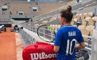 FOTO | Simona Halep, aparitie surpriza la primul antrenament de la Roland Garros! Mesaj special pentru Hagi