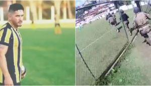 Ziua fotbalist, noaptea traficant! Politia l-a ARESTAT pe teren, in timpul unui meci. VIDEO INCREDIBIL
