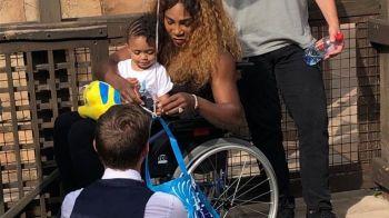 FOTO | Imaginea care ii sperie pe fani: Serena Williams, in scaun cu rotile la Paris!