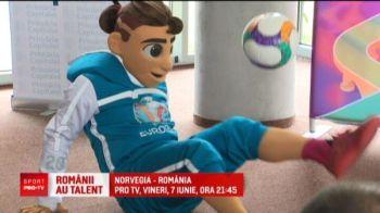"""Mascota EURO 2020 a ajuns la Bucuresti! Dorinel Munteanu nu vrea ca Romania sa se multumeasca cu o simpla calificare: """"Ar trebui sa facem ceva!"""""""