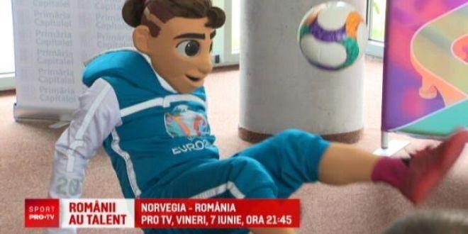 Mascota EURO 2020 a ajuns la Bucuresti! Dorinel Munteanu nu vrea ca Romania sa se multumeasca cu o simpla calificare:  Ar trebui sa facem ceva!