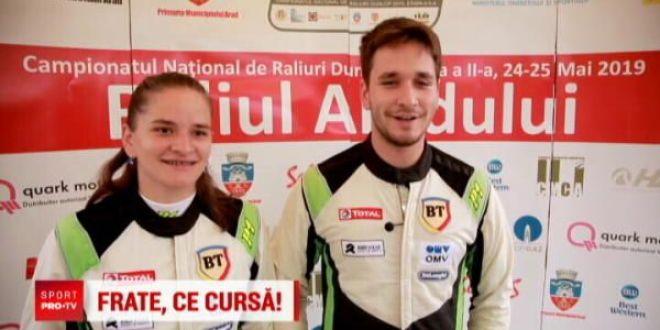 Doi frati din Cluj se pregatesc sa ia titlul la raliuri! Pilotul o asculta cu sfintenie pe sora lui in curse