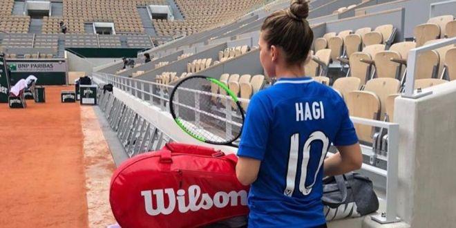 Simona Halep, Roland Garros 2019 | Hagi i-a raspus Simonei dupa ce romanca a purtat tricoul Viitorului la antrenament:  Simona e prea mare, noi suntem bucurosi!