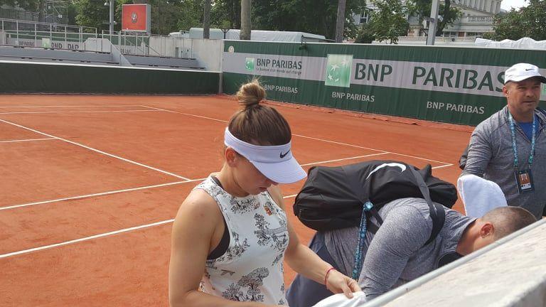 Simona Halep, Roland Garros 2019 | Halep a prezentat un nou echipament la antrenament! Rivala care i-a fost partenera la pregatirea de sambata