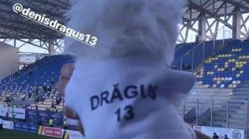 FINALA CUPEI ROMANIEI VIITORUL - ASTRA   A imbracat cainele cu tricoul iubitului si l-a dus la meci! Cum il sustine logodnica lui Dragus pe atacantul Viitorului