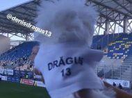 FINALA CUPEI ROMANIEI VIITORUL - ASTRA | A imbracat cainele cu tricoul iubitului si l-a dus la meci! Cum il sustine logodnica lui Dragus pe atacantul Viitorului