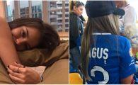 """BOMBA SEXY a lui Dragus a atras toata atentia la finala Cupei! Si-a adus cainele pe stadion: """"Campionul meu"""" FOTO"""