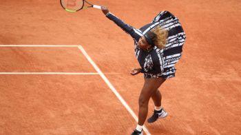 Serena Williams a renuntat la catsuit, dar a socat din nou. Ce scria pe echipamentul ei de la Roland Garros. FOTO