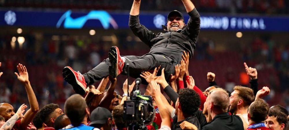 "TOTTENHAM - LIVERPOOL   Klopp, reactie fabuloasa dupa castigarea UEFA Champions League: ""E incredibil! E cea mai buna imagine pe care un club o poate avea!"""
