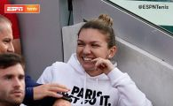 SIMONA HALEP ROLAND GARROS 2019 | Unde a fost surprinsa Simona Halep dupa victoria fulger cu Swiatek! A stat in boxa lui, langa antrenor. FOTO