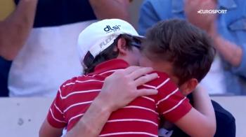 """Nu mai plange, tati!"" Moment FASCINANT la Roland Garros! Ambii jucatori au izbucnit in lacrimi! Fiul lui Mahut a intrat sa-si consoleze tatal"