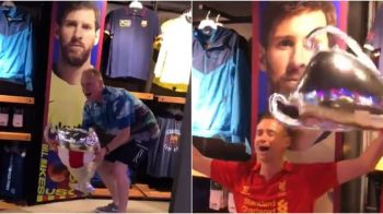 Liverpool inca sarbatoreste castigarea trofeului UEFA Champions League! Fanii au cantat in magazinul Barcelonei! VIDEO SENZATIONAL!