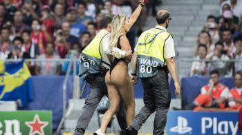 """""""Am primit mesaje de la jucatori!"""" Dezvaluirea facuta de femeia care a intrat pe teren la finala UCL! Ce i-a spus tatal ei: """"S-a bucurat ca nu eram goala"""""""