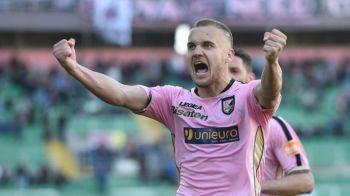 Adio, Italia?! George Puscas e dorit de o echipa importanta din Europa: sunt gata sa plateasca peste 3 milioane de euro pentru a-l lua de la Palermo