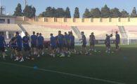 S-au antrenat doar pe partea cu UMBRA! :) Sunt 42 de grade in Malta! Ce spune Ianis Hagi inaintea primului meci ca titular pentru Romania