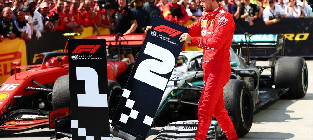 FORMULA 1: Gest fabulos al lui Sebastian Vettel. I-a luat la propriu locul 1 lui Hamilton. :) VIDEO