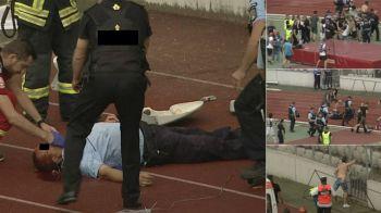 BREAKING NEWS | Huliganul care i-a spart capul unui jandarm la U Cluj - Hermannstadt, prins! E cercetat pentru ultraj si tentativa de omor!