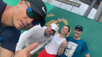 Simona Halep s-a antrenat cu Darren Cahill la Bucuresti! Cei doi, din nou impreuna pe terenul de tenis: VIDEO
