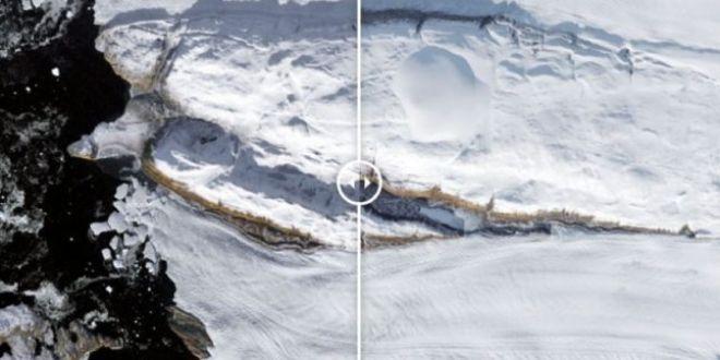 Groenlanda a pierdut 40% din gheata sa intr-o singura zi